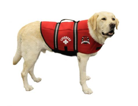 ZWEMVEST PAWS ABOARD PET LIFE JACKET, MAAT XL KLEUR RED NEOPRENE
