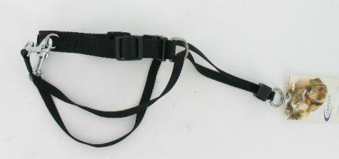 ANTI TREK TUIG NYLON ZWART 20MM X 25-30CM