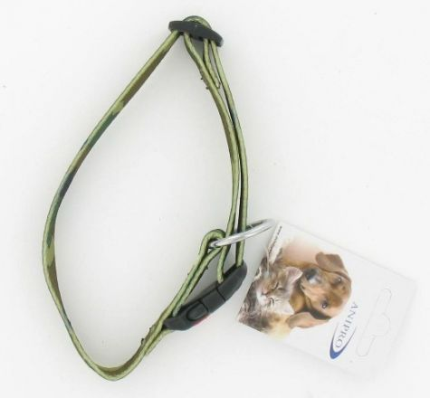 HALSBAND NYLON MET SAFETY BUCKLE CAMOUFLAGE 15MM X 30-45CM