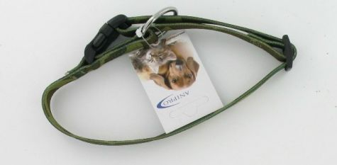 HALSBAND NYLON MET SAFETY BUCKLE CAMOUFLAGE 20MM X 35-55CM